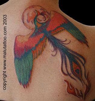 Color Phoenix Tattoo