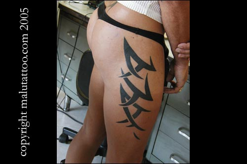 Tribal leg tattoos search results from Google